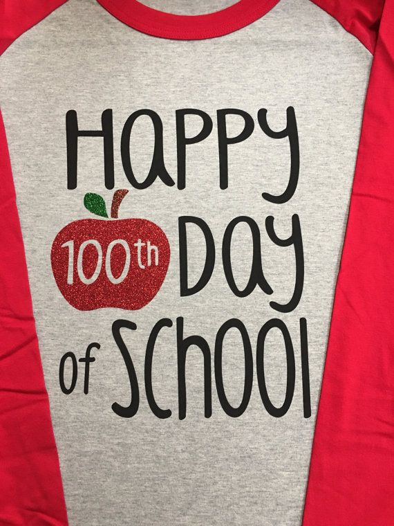 100th day of school vinyl shirt by mollymccormick on Etsy
