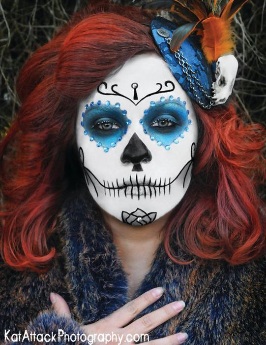 Sugar skull Makeup - day of the dead - Dia De Los Muertos - Halloween