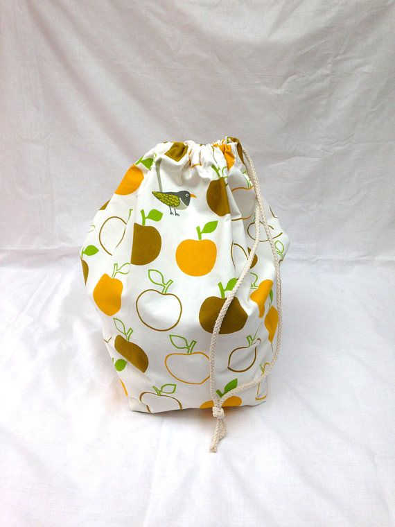Retro Apple Bird Print Large Storage Bag Duffle Bag Project