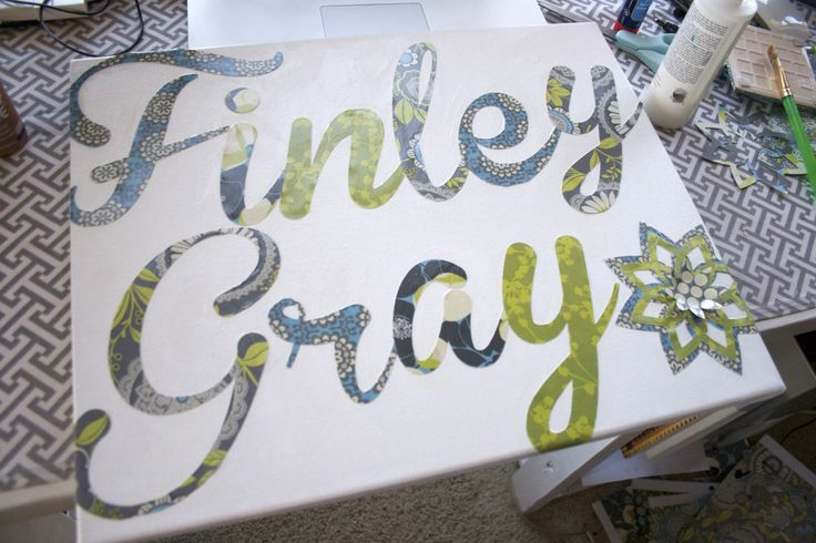 A friend of mine is pregnant with her first baby, a lil girl named Finley Gray (how cute is that?!) Anyway, i wanted to make something for their nursery and just started creating. I knew the nurser…