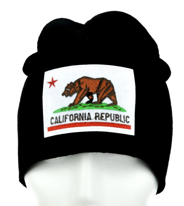 California Republic Flag Beanie Alternative Clothing Knit Cap So Cal Pride  #hat #comiccon #knitcap #horror #beanie