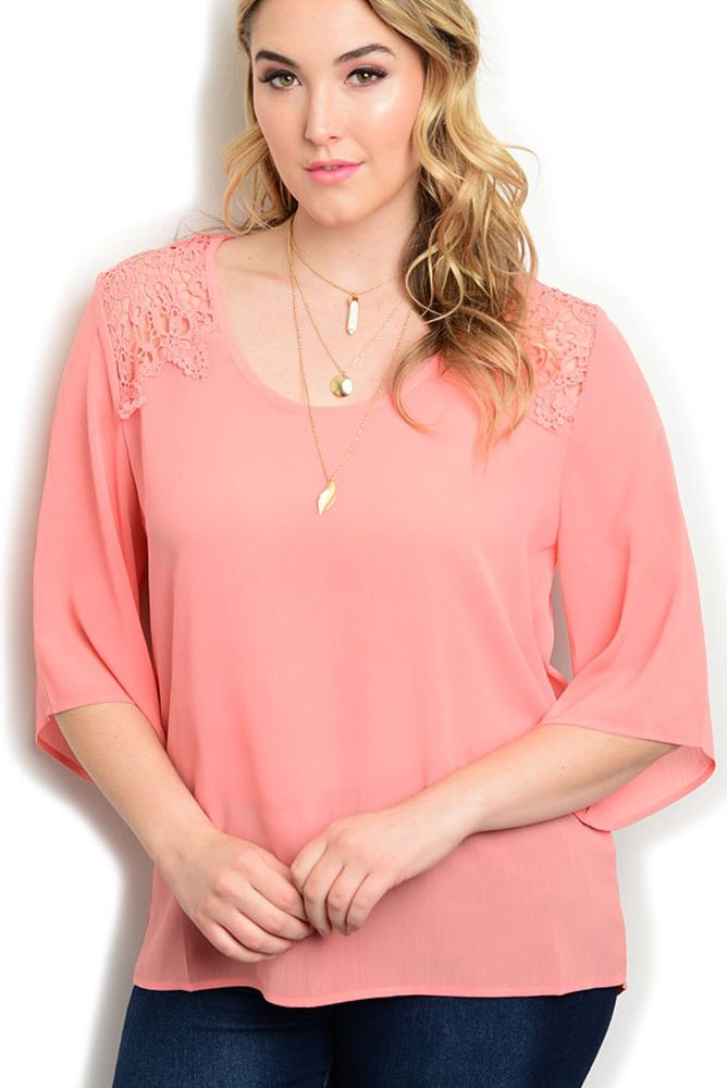 DHStyles Women's Peach Plus Size Dressy Sheer Chiffon Floral Crocheted Flowy Top - 1X Plus #sexytops #clubclothes #sexydresses #fashionablesexydress #sexyshirts #sexyclothes #cocktaildresses #clubwear #cheapsexydresses #clubdresses #cheaptops #partytops #partydress #haltertops #cocktaildresses #partydresses #minidress #nightclubclothes #hotfashion #juniorsclothing #cocktaildress #glamclothing #sexytop #womensclothes #clubbingclothes #juniorsclothes #juniorclothes #trendyclothing…