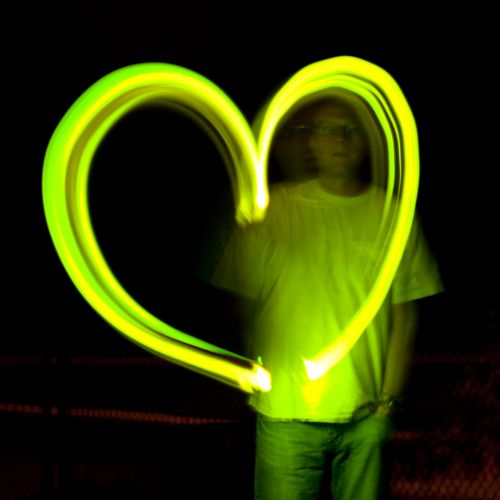 Slow shutter speed is used so the photographer can capture a shape from a moving light source.