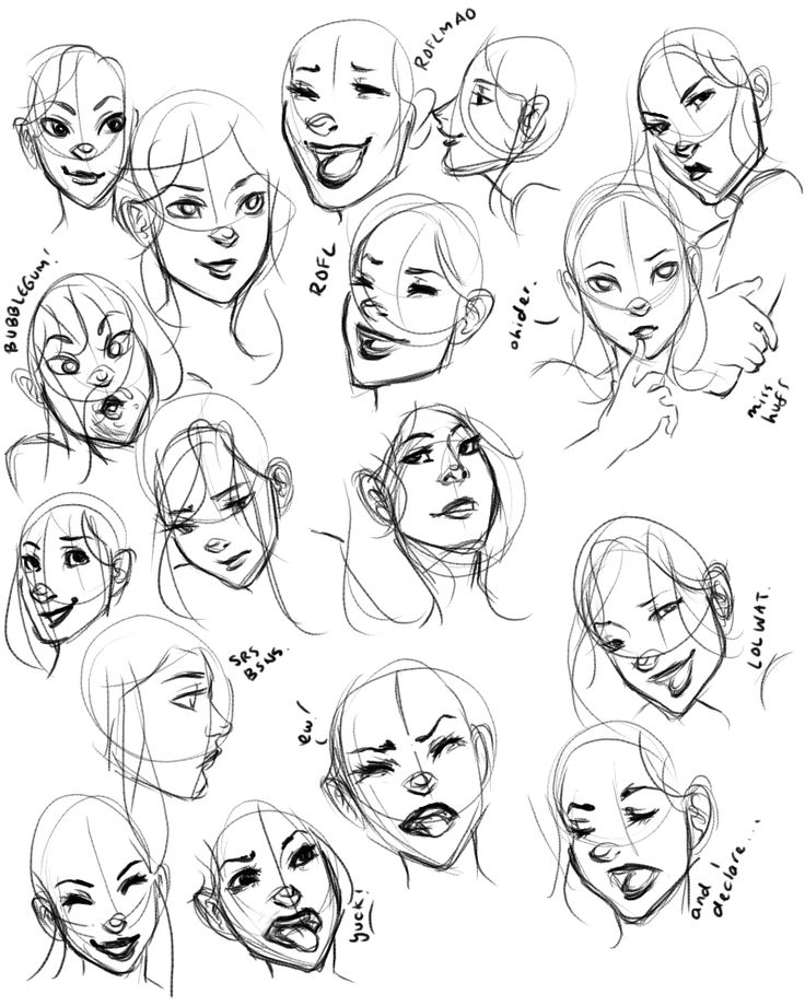 Line Drawing Happy Face : Best facial expressions images on pinterest drawing
