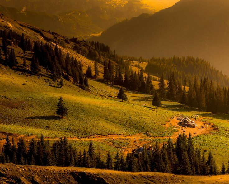 Beautiful Sunset Landscape with typical Romanian Alpine sheepfold in Parang Mountains, Romania    |   Discover Amazing Romania through 44 Spectacular Photos