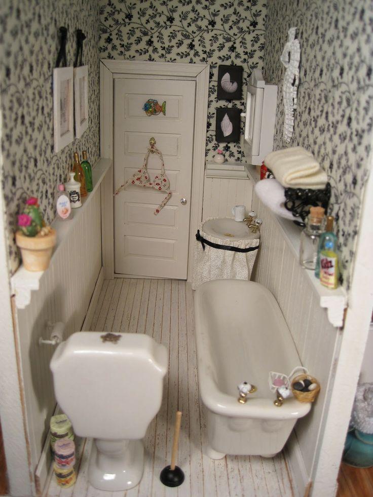 1000 Images About Dollhouse Miniature Bathroom On Pinterest
