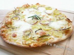 Sprød grillet pizza