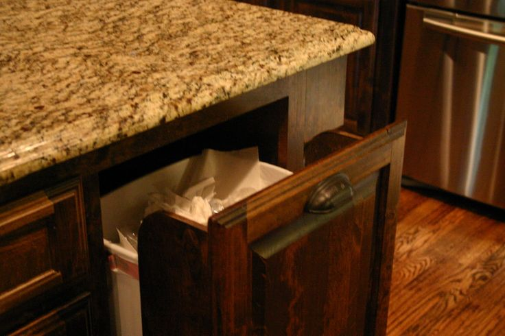Pull Out Trash Can In Kitchen Island Home Sweet Home