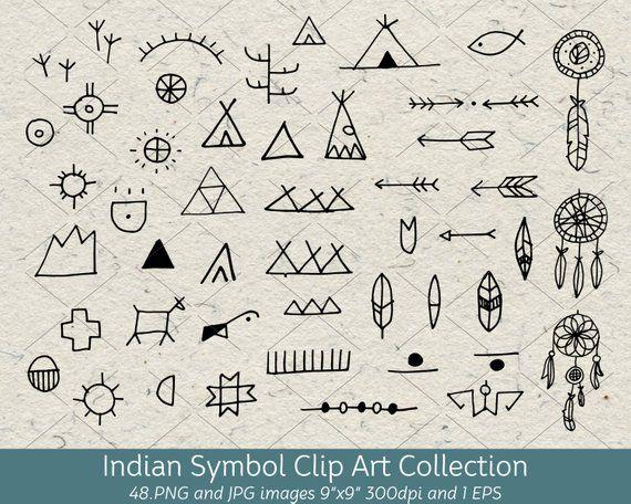 Hand Drawn Doodle Native American Indian Symbol Clip Art Arrows Dreamcatcher Tribal Decorative De Indian Symbols Native American Symbols American Symbols
