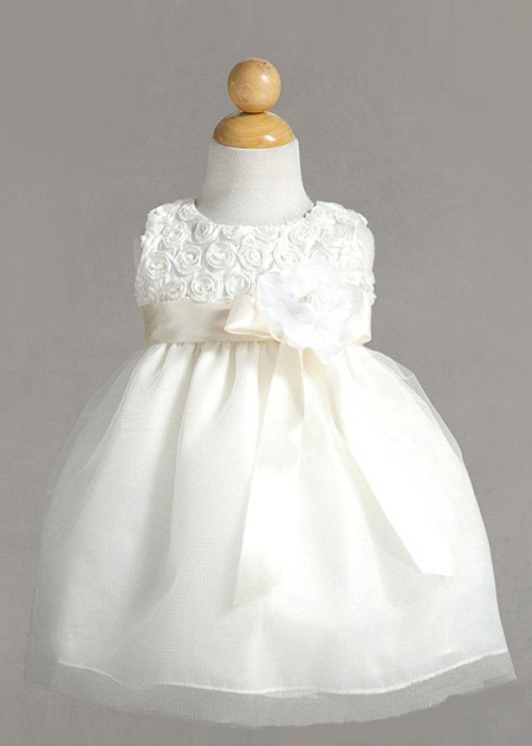 Ivory Fascinating Rose Infant Dress