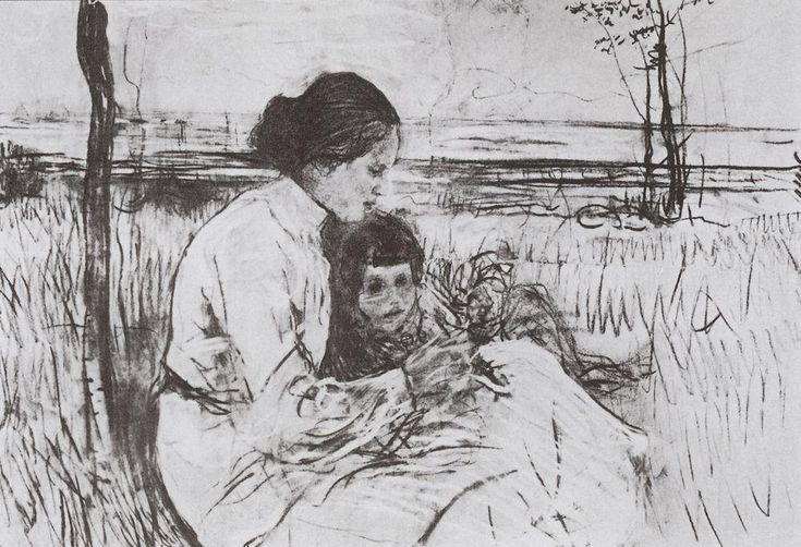 valentin serov Children of the artist. Olga and Anton Serov, 1906