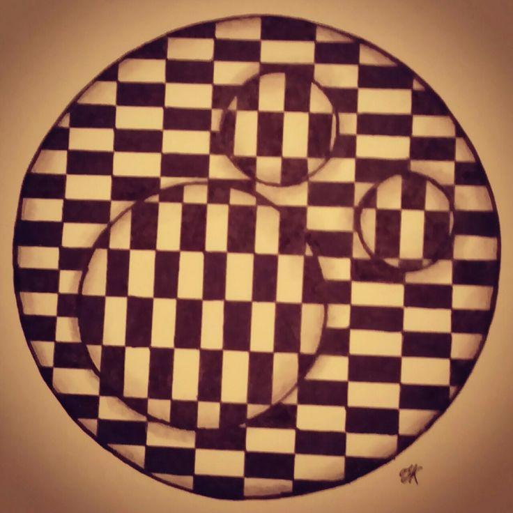 """""""peepholes 4"""" Zentangle art"""