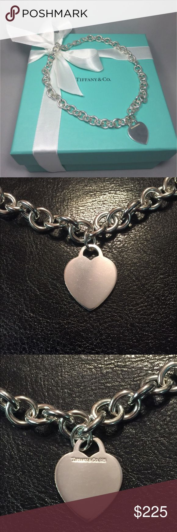Authentic Pre loved Tiffany Heart Necklace Pre Loved Authentic Tiffany Heart Necklace. Freshly polished and maintained by Tiffany&Co. this is perfect for your Tiffany lover. Say I love you this season with Tiffany and know your going to bring a smile to her face and make a memory unforgettable. Tiffany & Co. Jewelry Necklaces