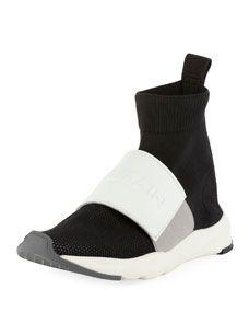 Balmain Cameron Mesh Running Sock Sneaker