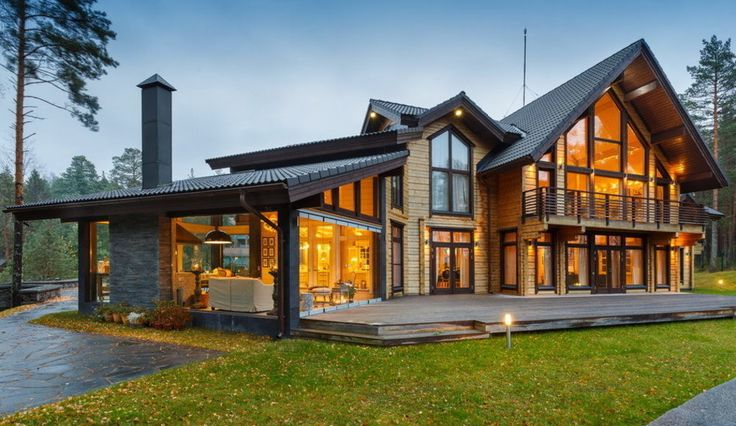 Предлагаем вам полюбоваться загородным коттеджем, расположенным на Карельском перешейке. Этот дом - удачное сочетание современной архитектуры и классического декора