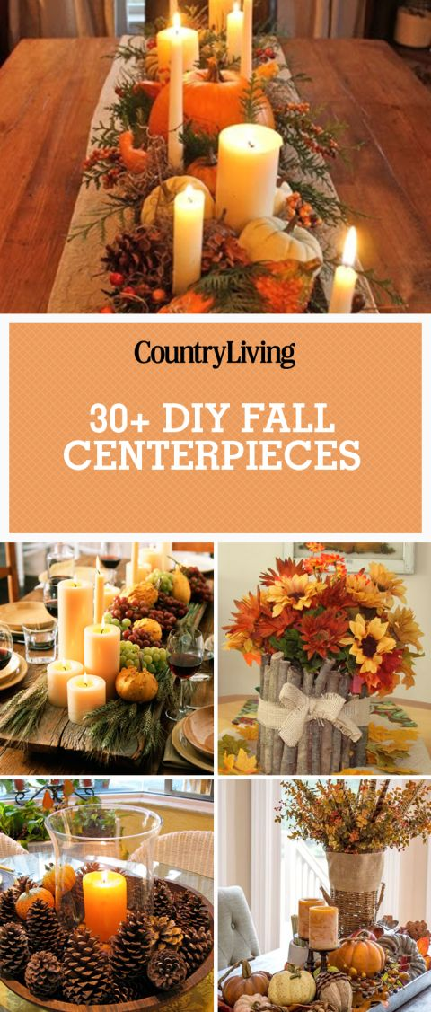 37 Beautiful Fall Centerpieces You Can Make Yourself Table CenterpiecesThanksgiving