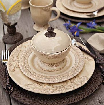 Grazia Dinnerware Collection by The GG Collection - mediterranean - dinnerware - atlanta - Iron Accents