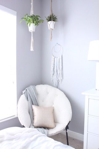 A Pink and Grey Boho Tween Bedroom - Starfish Cottage