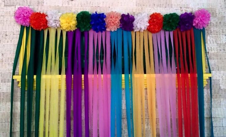 Colorful backdrop for candyland candy world theme party
