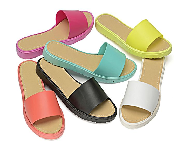 Ladies Girls Flat Jelly Mule Flip Flop Beach Holiday Fashion Summer Sandal Shoe | eBay