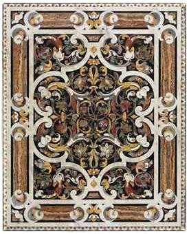 AN ITALIAN PIETRA DURA AND SPECIMEN MARBLE TABLE TOP