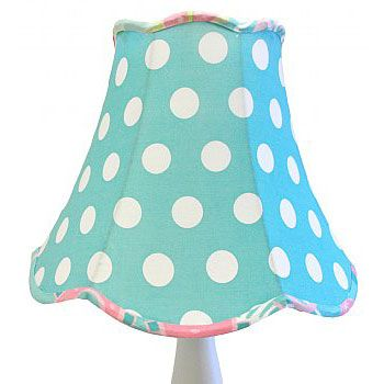 Pixie Baby in Aqua scolloped Lampshade is the perfect addition to your Pixie nursery!   Perfectly matches our My Baby Sam range of cot bering, children's bedding and room decor all in the same colour palate.   (Please note that this is the shade only and does not include the base.)