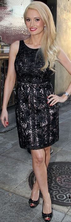 Holly Madison in Sue Wong Soutache Embroidery Dress