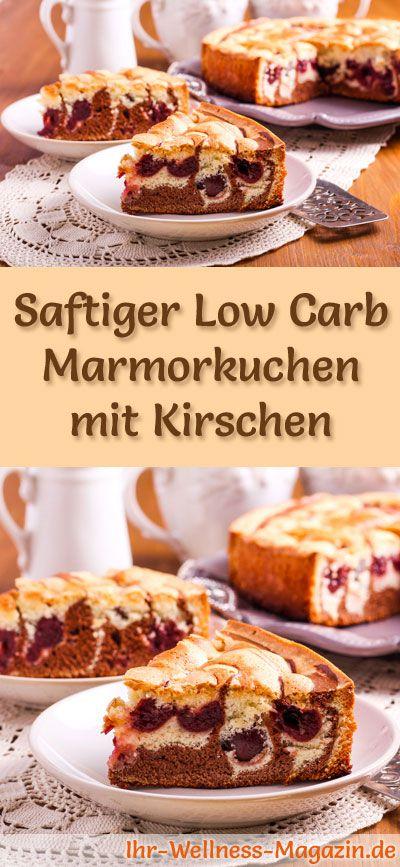 Rezept Für Low Carb Marmorkuchen Mit Kirschen   Kohlenhydratarm,  Kalorienreduziert, Ohne Zucker Und Getreidemehl