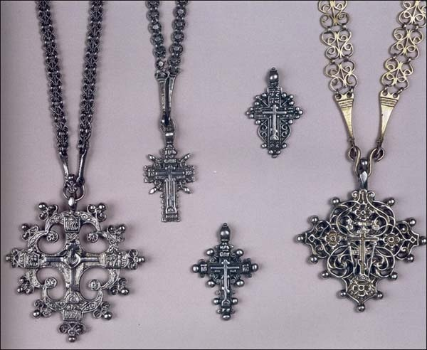 Breast chains and crosses. Russians. North - West of the European part of Russia. 17th-18th centuries