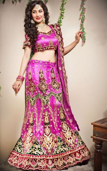 Picture of Butta Magenta Color Designer Lehenga Choli