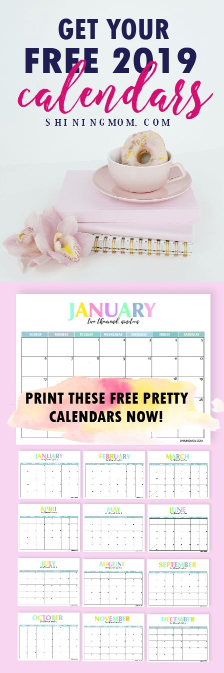 Get your free printable 2019 calendar now and plan the year ahead! #2019 #printable #freeplanner #calendar