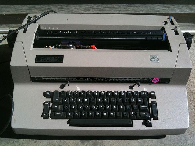 A maquina de escrever do liceu