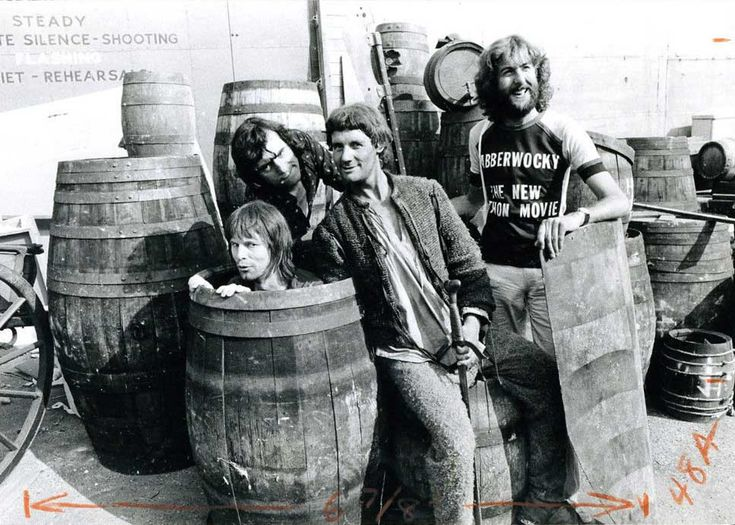 Terry Gilliam, Terry Jones, Michael Palin and Eric Idle | Rare, weird & awesome celebrity photos