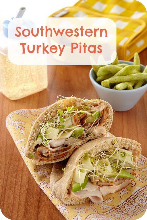 Kid-friendly school lunch ideas: Southwestern Turkey Pitas recipe