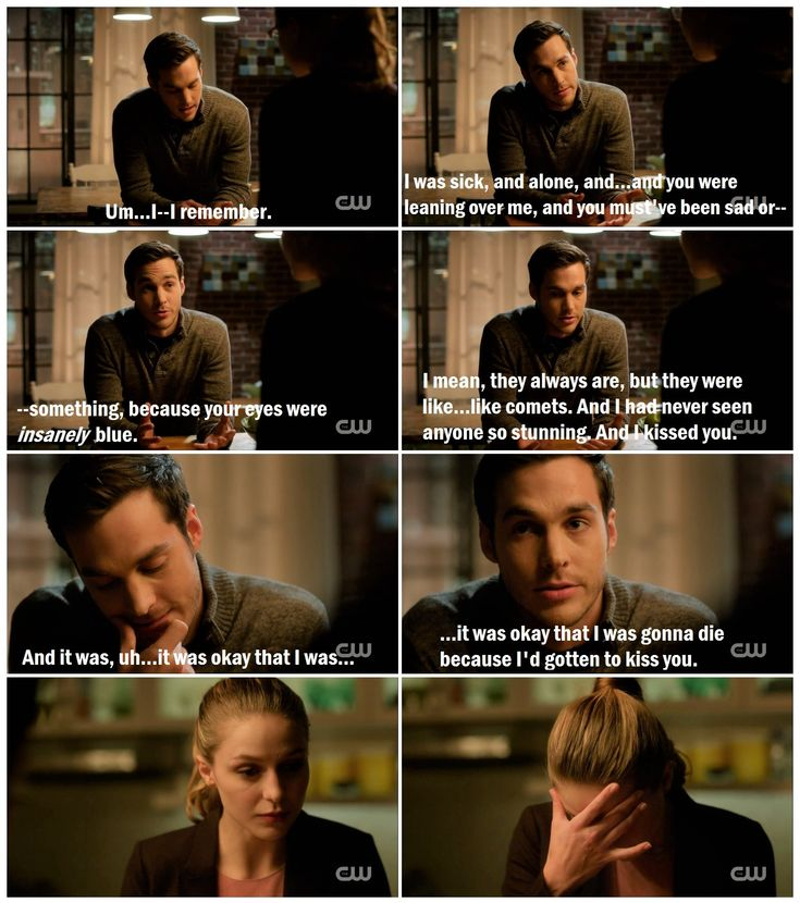 "Mon-El telling Kara he remembers the kiss really gets me. Melissa Benoist and Chris Wood are just incredible in this scene, and I felt uncomfortable right along with the both of them. It was awkward, it was painful...and yet it was so sweet. I totally would've reacted like Kara, but a billion points to Mon-El for his handling of it all <3<3<3 |TV Shows||CW||#Supergirl 2x10||""We Can Be Heroes