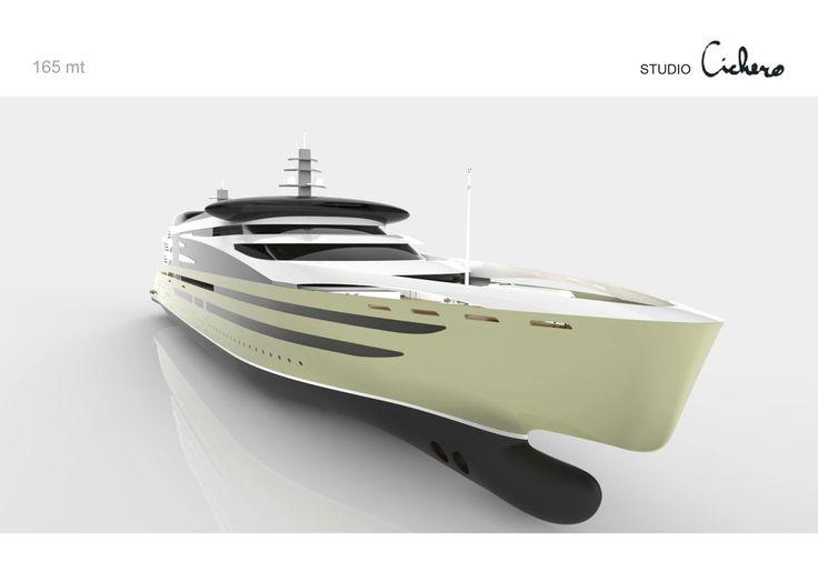 A new motor yacht design by Aldo Cichero #yacht #design