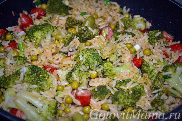 Жареный рис с брокколи и колбасками | ГотовитМама.ру Вкусные рецепты на каждый день!
