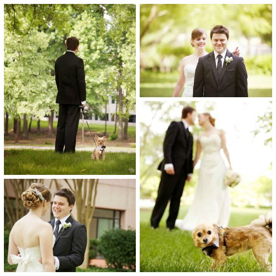 This couple included their dog in their first look. Love this idea!