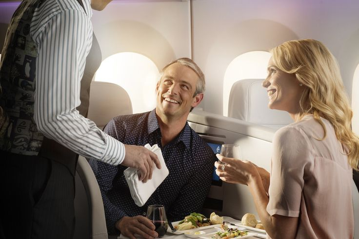 Boeing 787-9 Business Premier Dual Dining.  For more information on Air New Zealand's new Boeing 787-9 visit http://www.airnewzealand.co.nz/futuretakingflight #AirNZ #787-9 #AirNewZealand #NewZealand