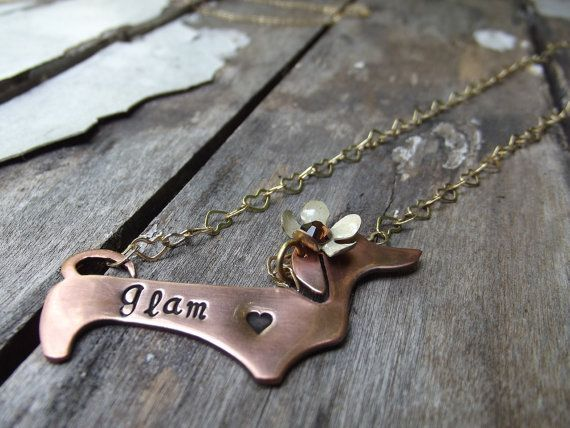 Glam Dachshund pendant  Ready to ship by patsdesign on Etsy, $25.00