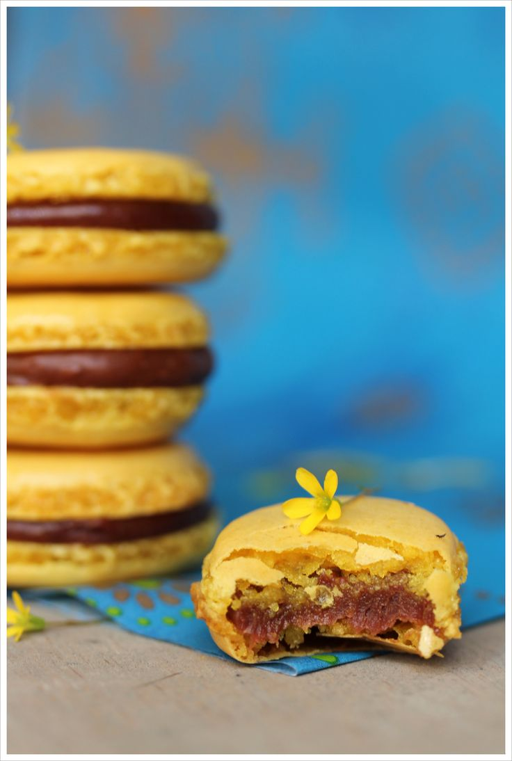 Macarons Mogador {chocolat au lait, fruit de la passion} de Pierre Hermé - Ready, steady... Cook !