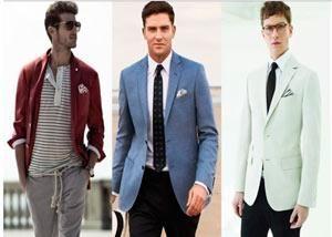 Цветной мужской пиджак
