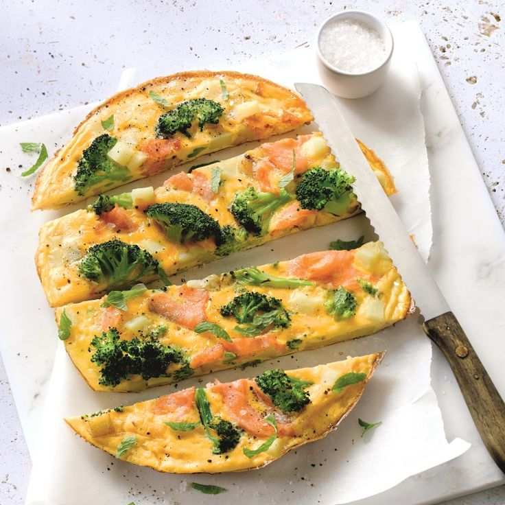Frittata met zalm en broccoli   Gezonde Recepten   Weight Watchers