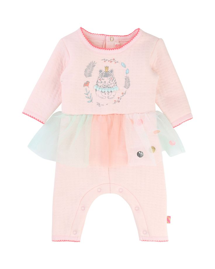 Coverall w/ Attached Tutu, Size 3-18 Months