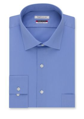 Van Heusen Dress Shirts Periwinkle Big  Tall Wrinkle Free Flex Collar Dress Shirt
