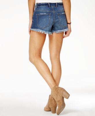 American Rag Juniors' Cotton Frayed Denim Shorts, Created for Macy's - Blue 15