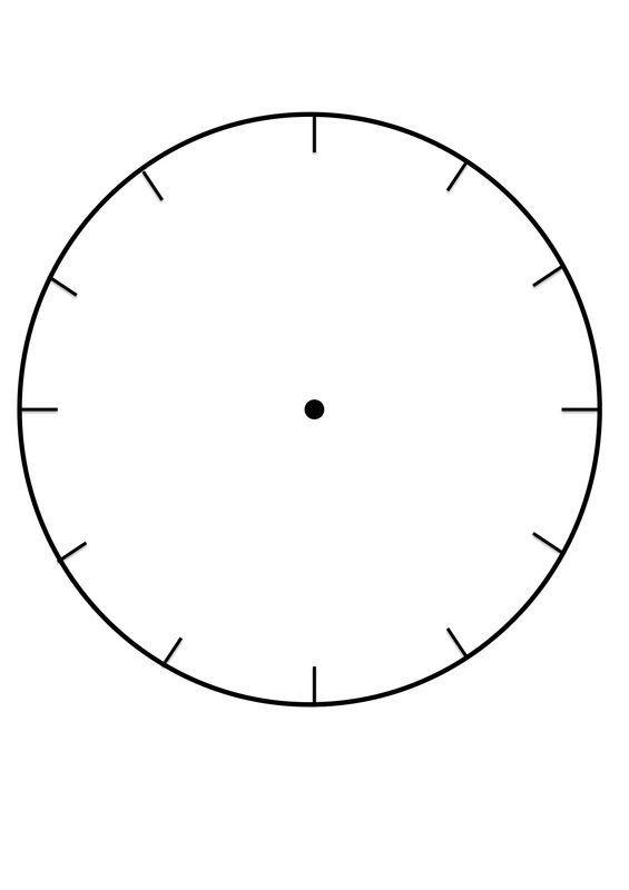 Blank Clock Face Template Printable