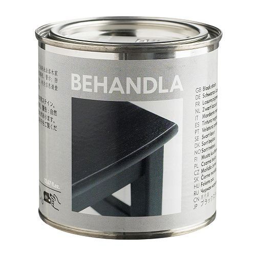 IKEA - BEHANDLA, Glazing paint, black, , Makes the surface of untreated wood more durable.