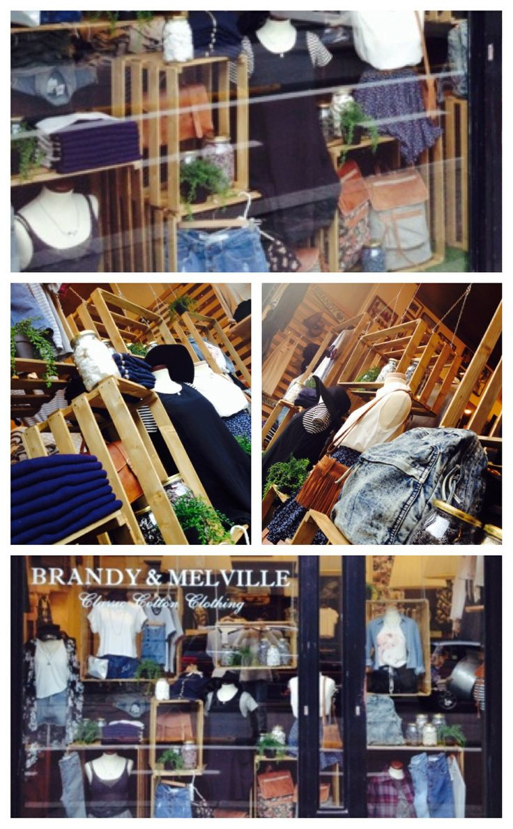 Wooden boxes and jars - Window Display