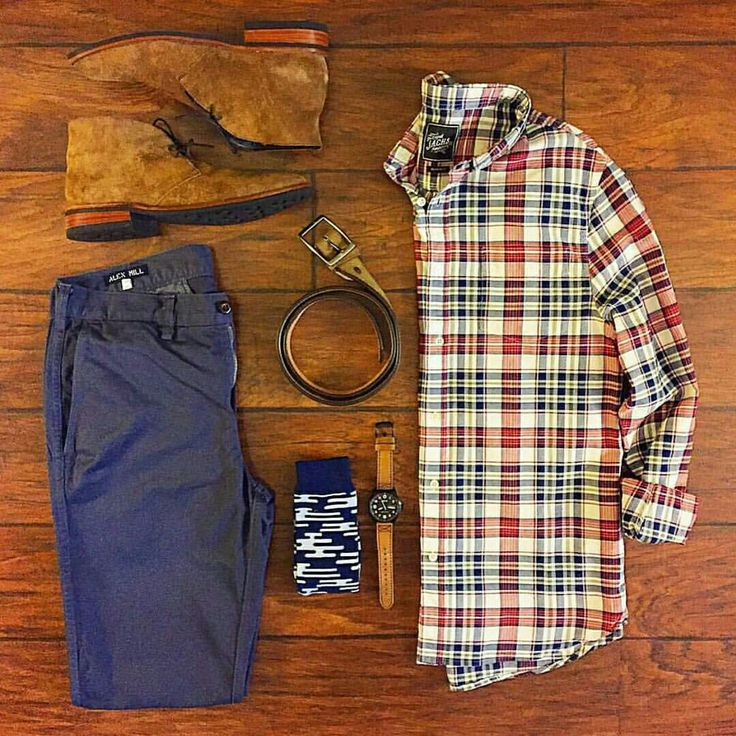 Outfit grid - Checks & chukka boots